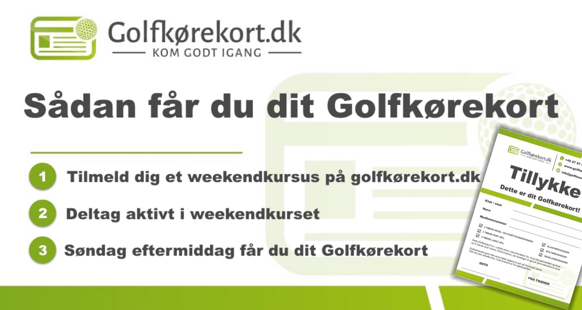 Golfkørekort på en weekend